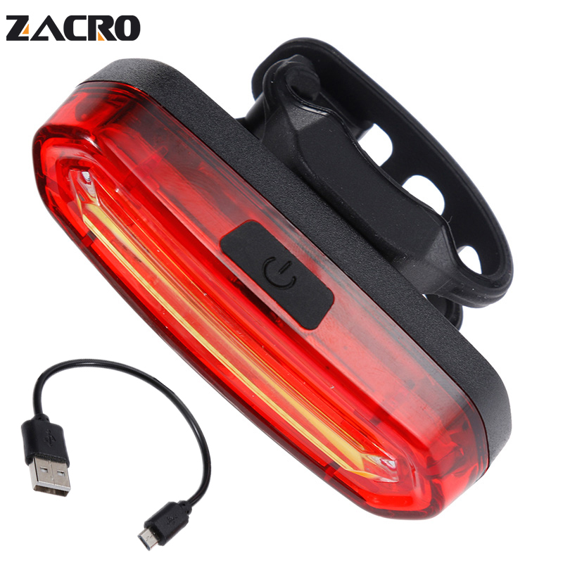 Zacro Bicycle Rear Light Cob Bicycle Led Light Rechargeable USB Safety Taillight Cycling Waterproof Mtb Tail Light Back Lamp лонгслив dzeta