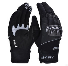 AMU Motorcycle Gloves Genuine Cow Leather Moto Gloves Touch Screen Waterproof Motocross Gloves Winter Motorbike Riding Gloves недорго, оригинальная цена