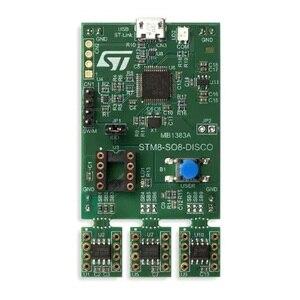 Image 2 - 1 pcs x STM8 SO8 DISCO גילוי ערכת פיתוח לוח עם STM8L001J3, STM8L050J3, STM8S001J3 MCUs