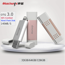 Maxchange Memory Disk 32GB 64GB 128GB USB Flash Drive U Disk OTG USB 3.0 Storage Flash Memory Pendrive For iPhone/iPad/PC
