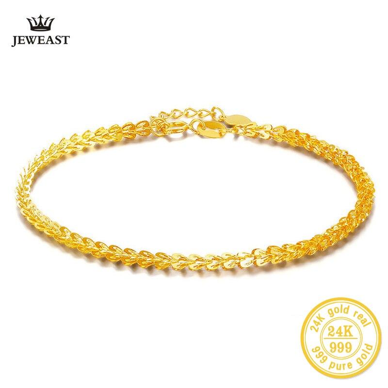 XXX BBB 24k Gold Bracelet Women girl Fine Jewelry engagement Wedding Gift 999 Vintage bangle Party Trendy Real True New Top