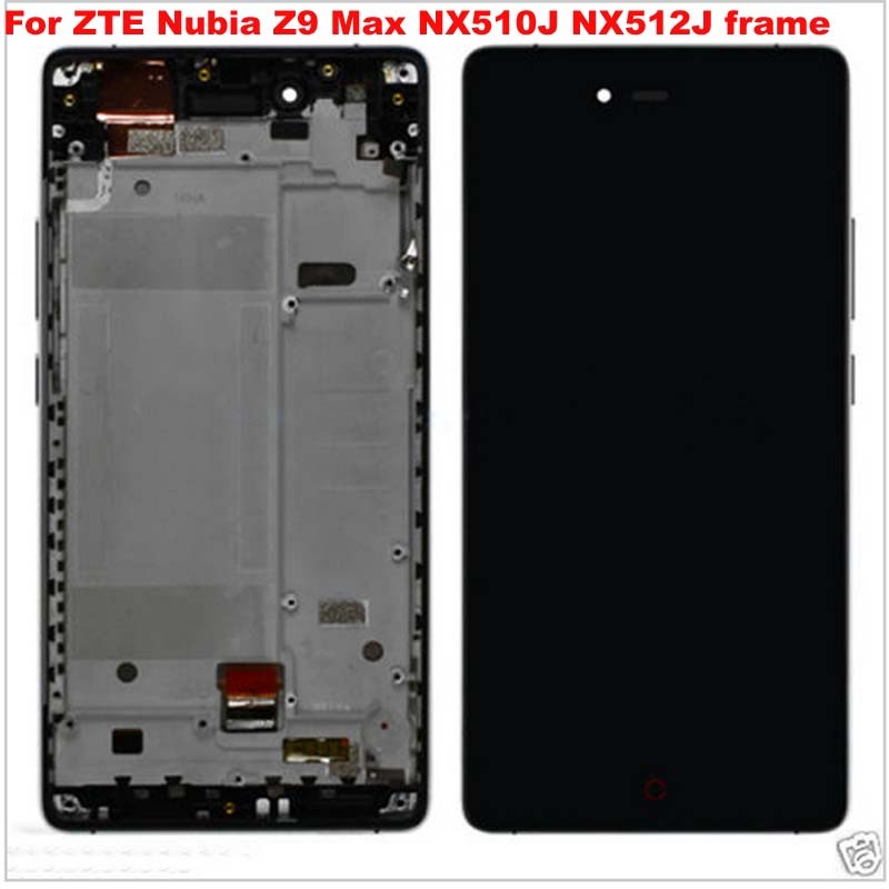 For ZTE Nubia Z9 Max NX510J NX512J Black LCD Display Screen Panel Monitor Digitizer Touch Screen