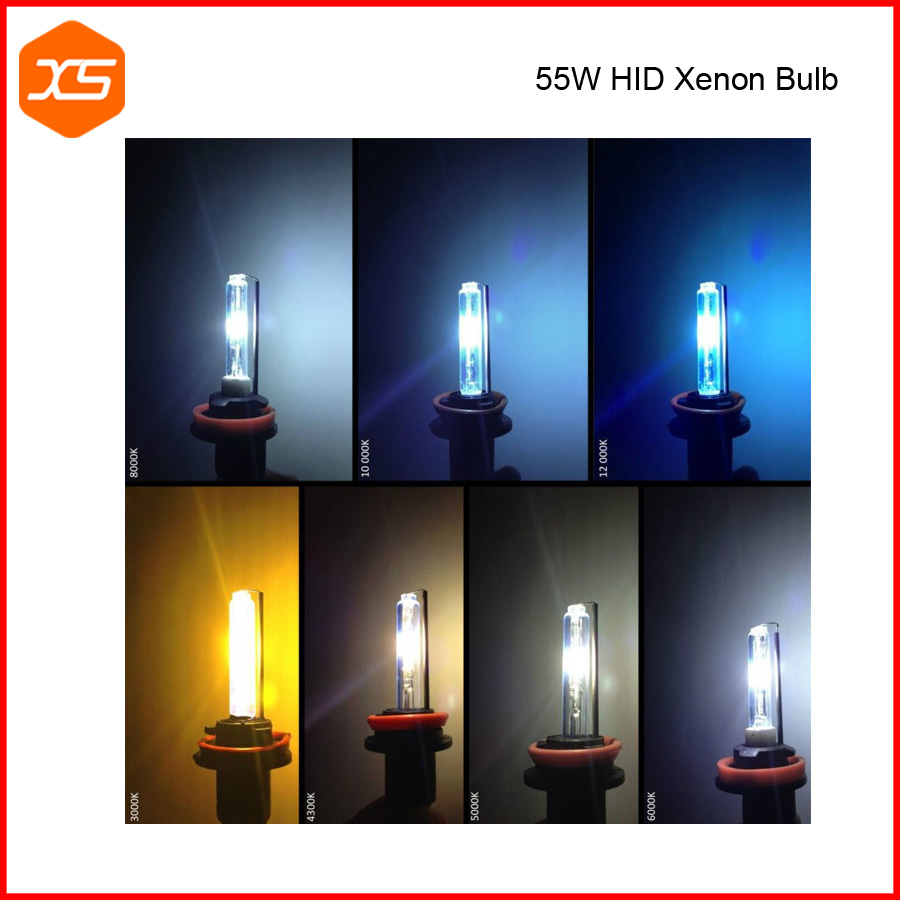 55W HID Xenon Bulb Fog Light H11 HB3 HB4 9005 9006 880 881 Golden Yellow Super White Blue Pink H1 H3 H7 H8 H9,h11 fog light bulb