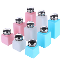 White Pink Blue Liquid Bottle 100~250ml Alcohol Bottle Dispenser Pump for Photography Photo Studio Residue Remover Clean Tool 180ml alcohol and liquid container bottle blue