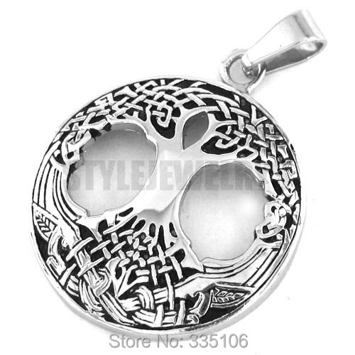 Celtic Knot Life Tree Pendant Stainless Steel Jewelry Claddagh Style Pendant Fashion Women Biker Pendant SWP0193A