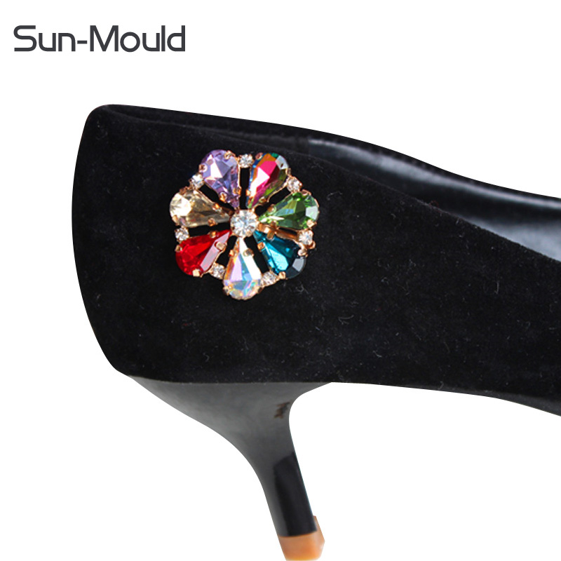 women's shoes high heel pumps sandal slippers rhinestone glass metal shoe flower buckle charm accessories decoration 2pair/lot stylesowner elegant lady pumps sandal shoe sheepskin leather diamond buckle ankle strap summer women sandal shoe