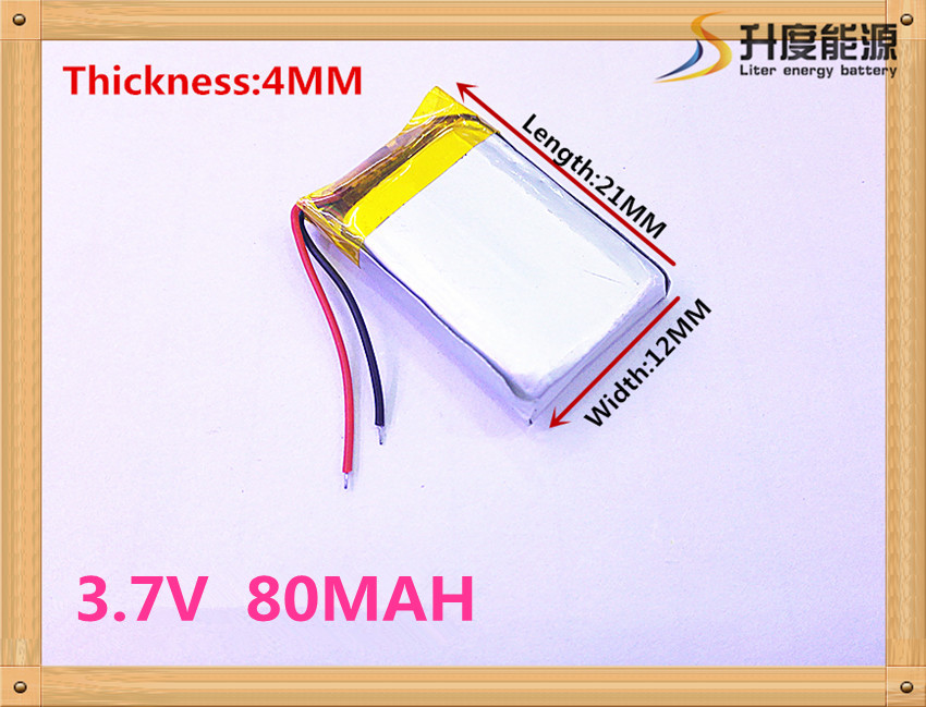 best battery brand 1PCS Bluetooth cell 401221 381221 041221 80mah MP3 3.7V lithium battery best battery brand free shipping 401 030 421 030 bluetooth headset bt2020 bt500v 3 7v battery 100mah