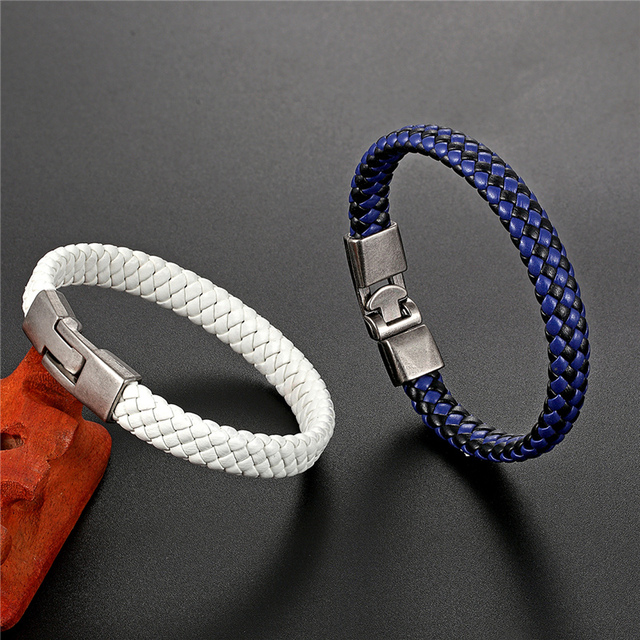 новый плетеный браслет из натуральной кожи для мужчин и женщин фотография