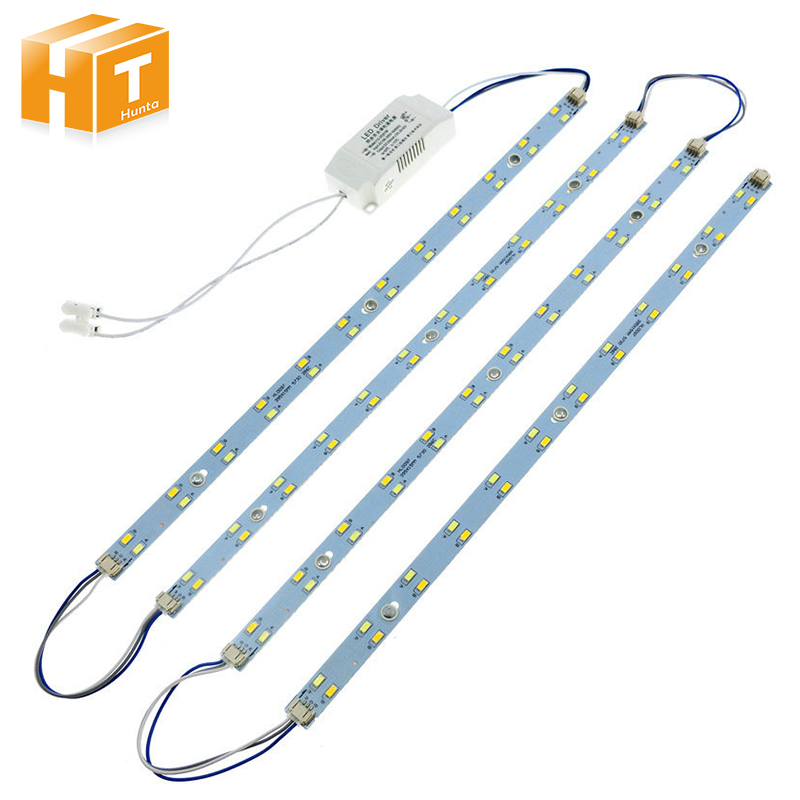 5730 LED Tube Double Color LED Bar Lights Ceiling Lamp LED Light Source AC220V High Bright with Power Driver + Magnetic Holder.