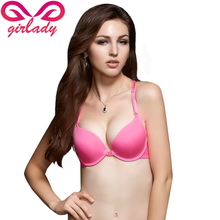GIRLADY Sexy Push Up Bras For Women A B Cup Front Closure Lace Lingerie Female Y-Line Straps Brasier mujer Spandex Bra Sujetador