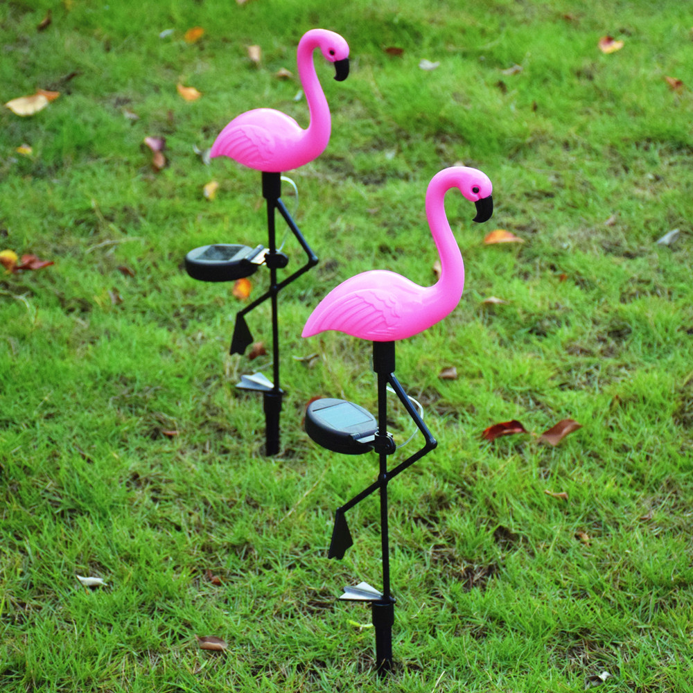 luz solar led gramado flamingo movido a energia solar lampada para decoracao do jardim subterranea luzes