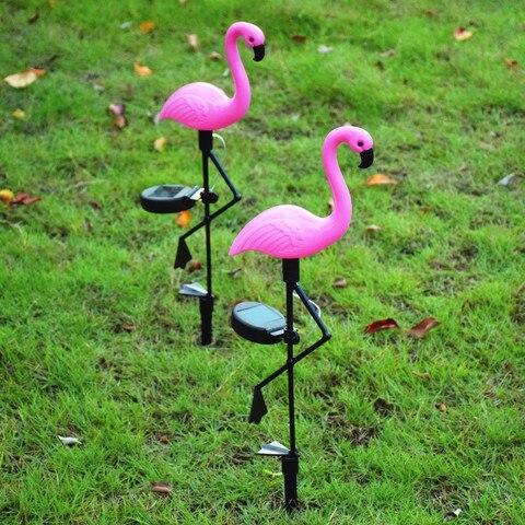 luz solar led gramado flamingo movido a energia solar lampada para decoracao do jardim subterranea