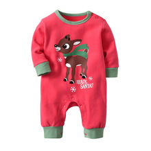 Baby Clothes Christmas Autumn 2018 Winter Newborn Long Sleeve Red Deer 0-24m Santa Jumpsuit Rompers