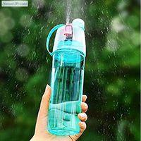 Sweettreats Creative Sports Water Bottle Spray Water Bottle Simple and Stylish Plastic Bottle