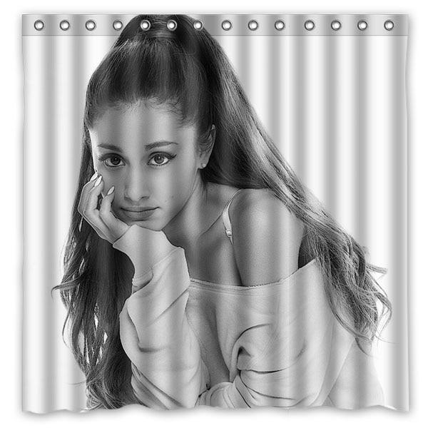 Nouveau Ariana Grande preuve de douche Polyester rideaux de bain haute qualité étanche rideau de douche salle de bains décor 71*71 pouces