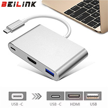 USB Type C 3.1 Converter USB C type to USB 3.0/HDMI/Type C Female Charger Adapter for Apple Macbook and Google Chromebook Pixel(China)