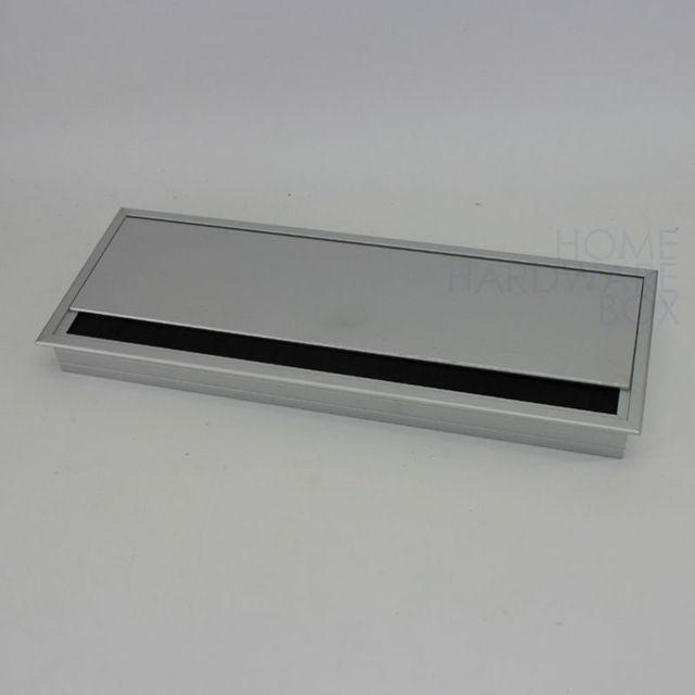 aluminum desk wire access grommet table top hole flip cover dust ...