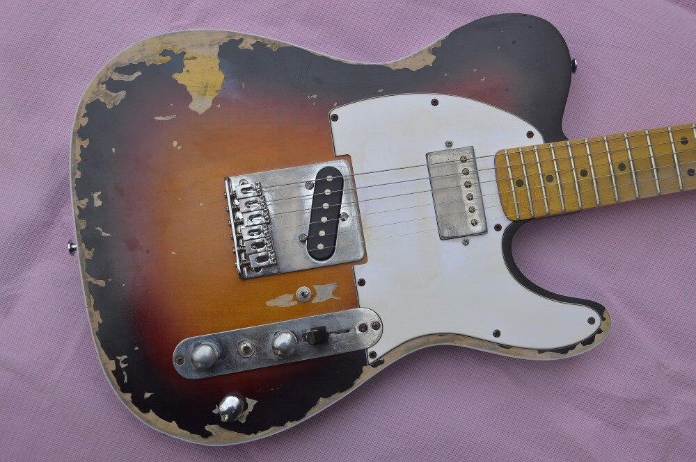 Custom Shop main électrique télédiffusion guitare, limitée version Andy tele, maître construire relic guitare TL, boom commutateur, H-S contrôle