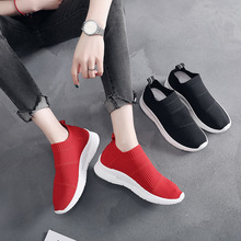 Promotion Summer New Women Shoes Falts Loafers Flying Stretch Fabric Shoes Woman Fashion Sneakers Flat Platform Slip-on Shallow цена