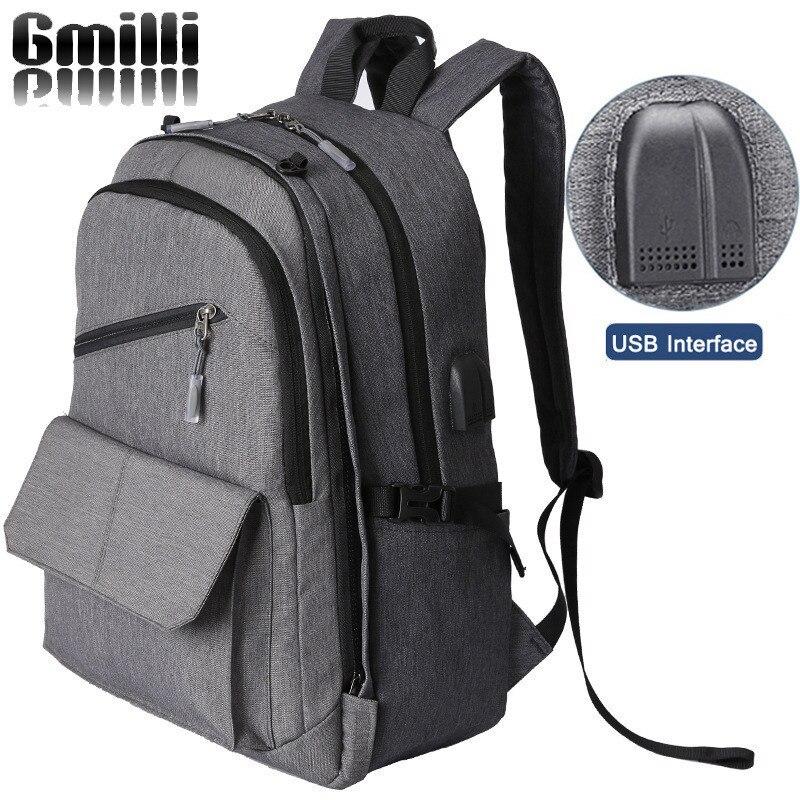 Gmilli Casual Basketball Rucksack Multifunction USB Charging Men 15.6 Laptop Backpacks Business Travel School Bag Dropshipping