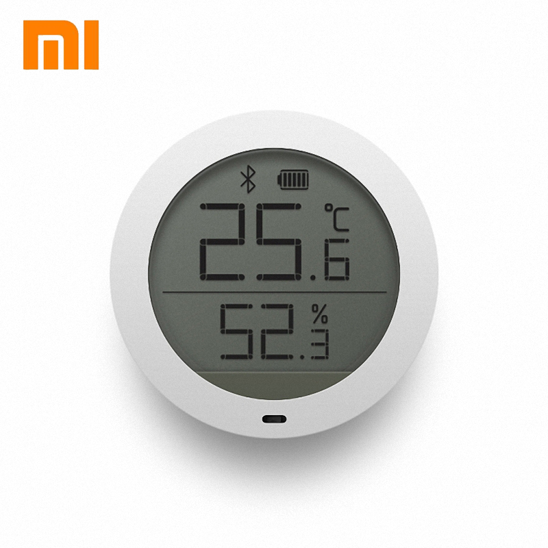 100% Original Xiaomi MIjia Bluetooth Hygrothermograph High Sensitive Sensor Hygrometer Thermometer LCD Screen Magnetic Sticker