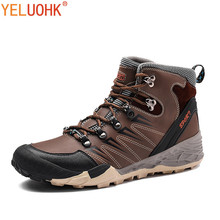 Фотография Natural Leather Men Boots Winter Plush Warm Winter Boots Men High Quality Winter Shoes Anti skidding