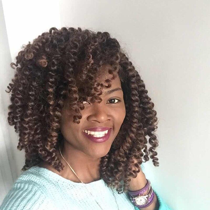 10 дюймов 2X ямайский отказов крутить волосы TRESSE крючком косы расширения палочка Curl Плетение Волос 20strands/Pack 100 г