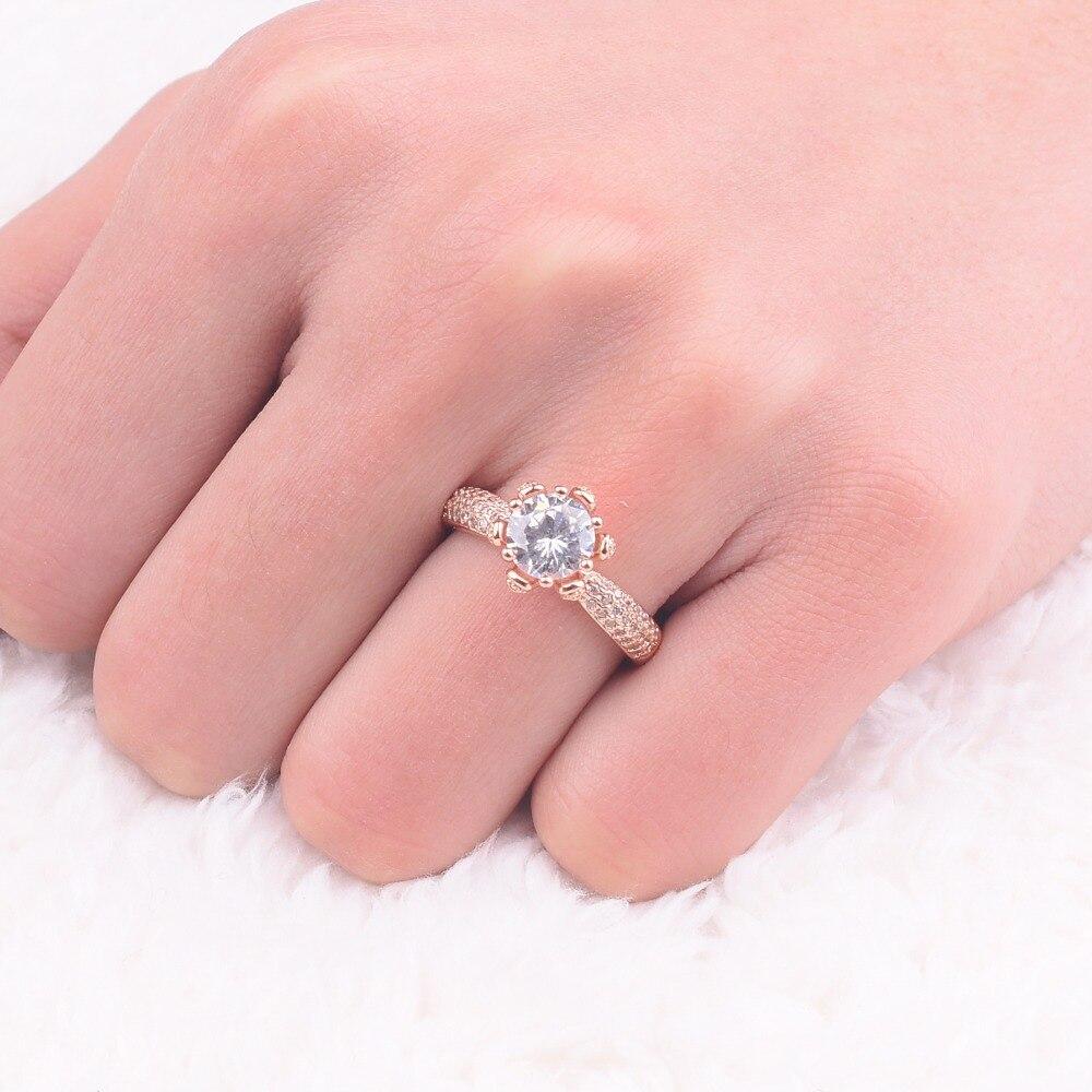 Promotion! Flower Design Solid 100% 925 Silver & rose gold Wedding ...