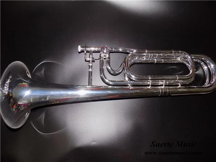 F / Bb Trombone Կրկնակի սլայդ Trombon Silver plated Bell 236.5 մմ գործի և բերանի երաժշտական գործիքների պրոֆեսիոնալով