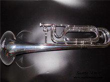 цена на F/Bb Double sideTrombone Silver plated Finish  Musical trombone With foambody case