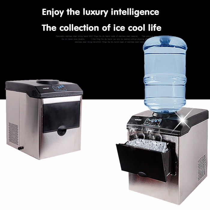 Automatic Bullet Round Ice Maker, Ice Cube family making machine commercial use for coffee shop bar 25KG/HOUR цены онлайн
