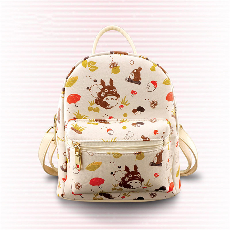 Anime My Neighbor Totoro Cartoon PU Travel Bag Natsume Yuujinchou/Neko Atsume Pikachu Students Backpack Daypack PacksackAnime My Neighbor Totoro Cartoon PU Travel Bag Natsume Yuujinchou/Neko Atsume Pikachu Students Backpack Daypack Packsack