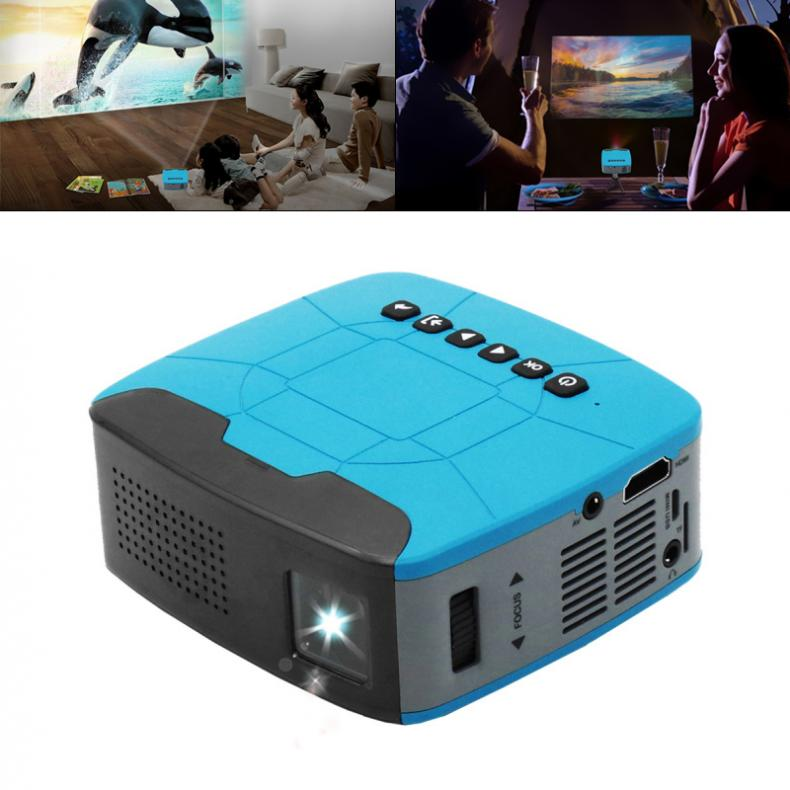 U20 Universal 116 Inch Portable LCD LED Projector Mini Handheld Video Projector with Short Focus For