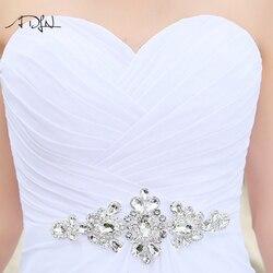 ADLN Stock Chiffon Wedding Dresses with Rhinestones Robe de Mariage Sweetheart vestido de noiva Cheap Beach Bridal Gowns 5