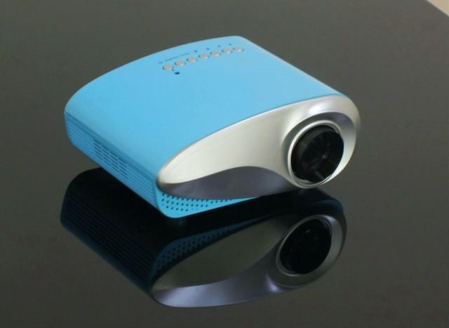 LED Mini Proyector 480*320 Resolución Nativa Home Theater Proyector Portátil Con USB TV HDMI VGA SD Puertos de Entrada Envío de la gota