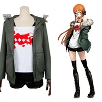 Persona 5 Futaba Sakura Shirt Coat Jacket Cosplay Costume