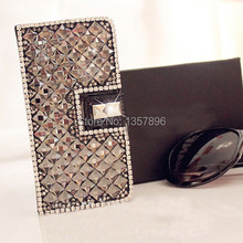 Luxury Grey Diamond Case capa Bling Flip Leather For Samsung S7 S7 edge Note 5 4 3 2 S4 S5 S6 Active N7505 A3 A5 A7 2016 carcasa