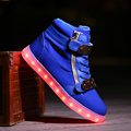 quality 7 Colors Men LED Shoes 2016 Autumn Winter High Top Growing Shoes For Man Luminous Lights Shoes White /Black