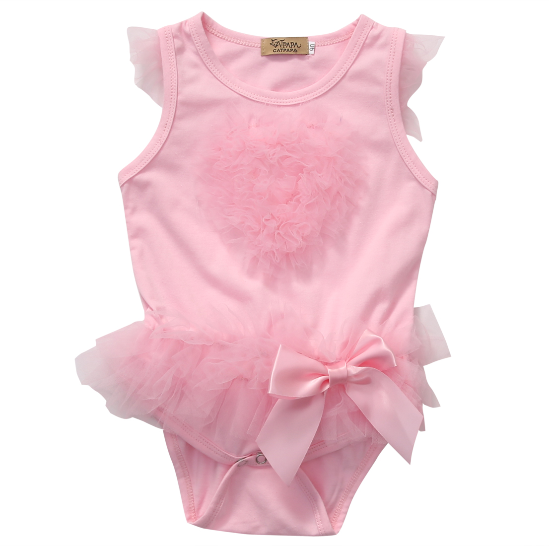 Newborn Kids Baby Girl Infant Romper Jumpsuit Tutu Dress Clothes Outfit newborn infant baby girl clothes strap lace floral romper jumpsuit outfit summer cotton backless one pieces outfit baby onesie