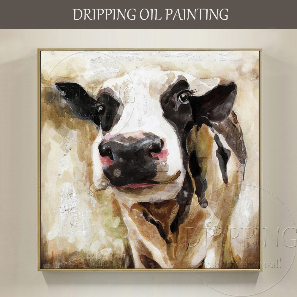 Professional team supply 10 designs cow and bull oil - Oil painting ideas for living room ...