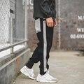 Mens Casual Sweatpants Homens Originais Meninos Skate Pant Machos Soltos Calças Pretas Basculador