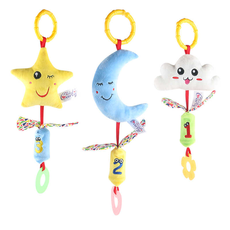 Baby rattle children Campanula toys baby teeth tape children ring paper  clouds moon stars make toys to soothe baby sleep