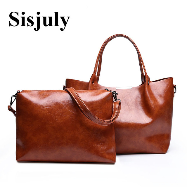 6b1d9a8d1eef Sisjuly Women SHoulder Bag Composite Bag PU Leather Handbags Casual Female  Tote Bag Solid Color Hand Bags Ladies 2019