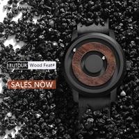 EUTOUR Minimalist Novelty Magnet Wooden Watch Men Luxury Stylish Timepieces Quartz Magnetic Leather Strap 2019 New Arrival