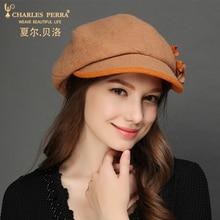 Charles Perra Brand Women Hat Beret Autumn Winter Female Elegant Lady Fashion Hats Fedoras Warm Wool Cap Corros Corro 7220