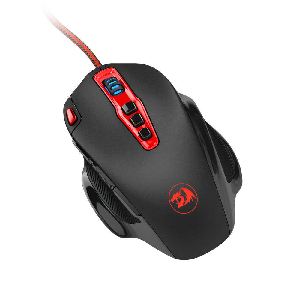 Redragon M805 Hydra 14400 DPI souris de jeu Programmable de haute précision 10 boutons programmables avec réglage du poids réglable