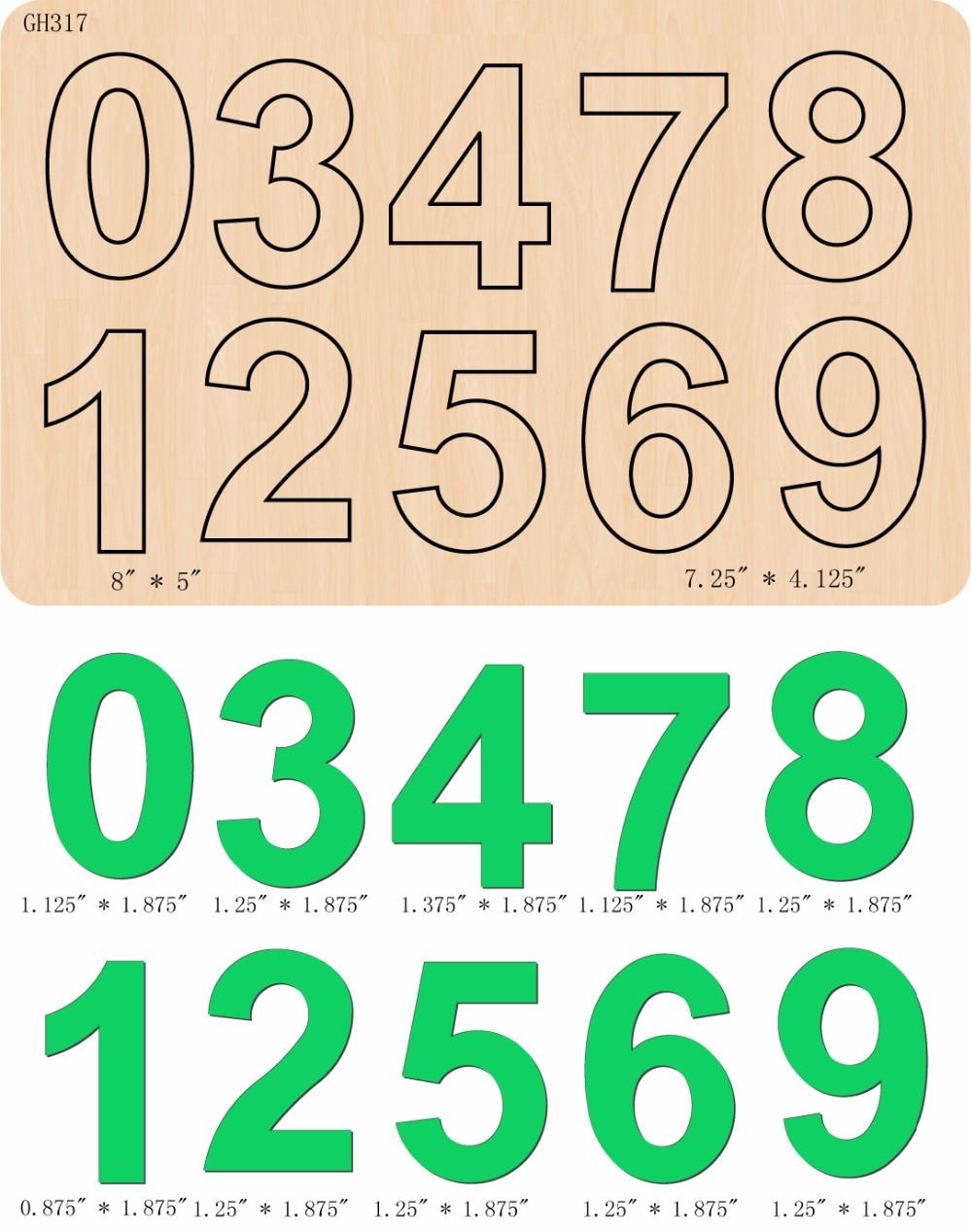 Новый арабскими цифрами деревянный кубик Скрапбукинг D-139 резки умирает