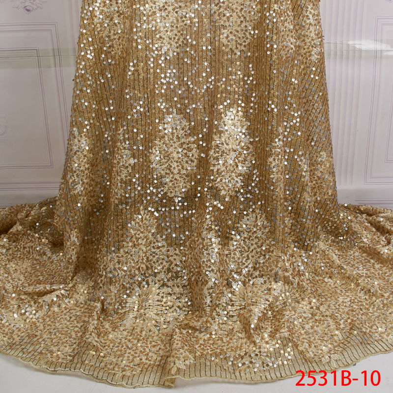 High Quality Lace Fabric With Beads And Pearl Hot Selling African French Lace Material Fabric QF2531B-10High Quality Lace Fabric With Beads And Pearl Hot Selling African French Lace Material Fabric QF2531B-10