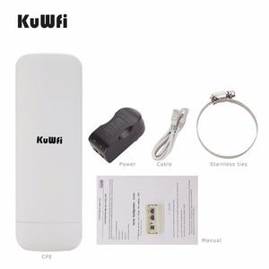 Image 1 - Kuwfi 300 ميغابت في الثانية واي فاي CPE راوتر لاسلكي 3 كجم المدى 2.4G مكرر موسع جسر الوصول نقطة للكاميرا LED عرض خارج
