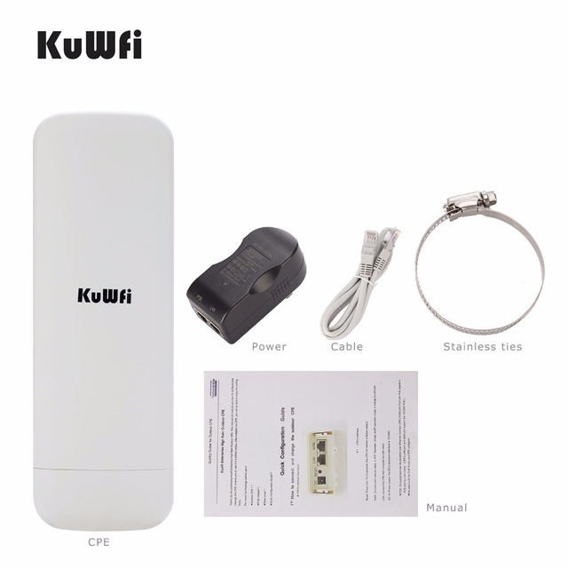 Kuwfi 300 ميغابت في الثانية واي فاي CPE راوتر لاسلكي 3 كجم المدى 2.4G مكرر موسع جسر الوصول نقطة للكاميرا LED عرض خارج